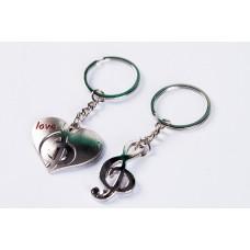 Breloc inimioara+cheia sol